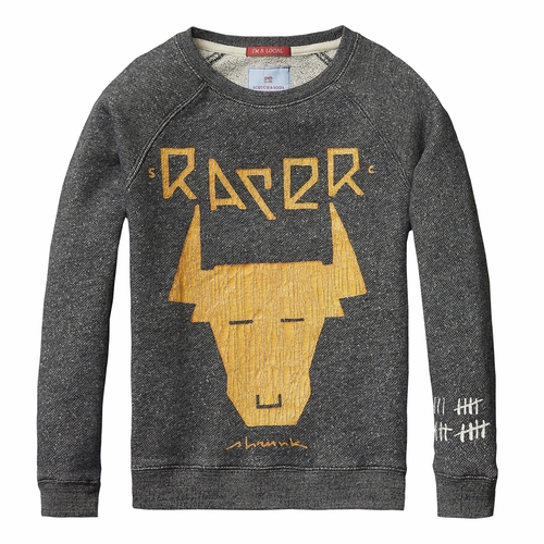 Scotch Shrunk Bull Racer Pullover Sweatshirt