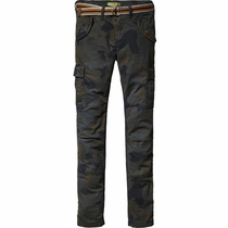 Scotch Shrunk Camo Combat Pants with Belt