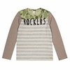 Scotch Shrunk Striped Camo Rockers Long Sleeve Tee
