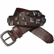 Scotch Shrunk Stud Embellished Leather Belt