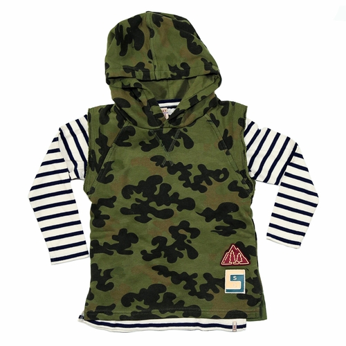 Scotch Shrunk Two Piece Camo Hooded Vest