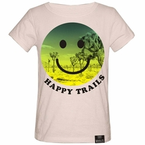 Tiny Whales Happy Trails Smiley Face Tee