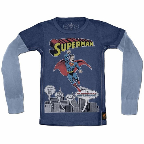 Trunk Superman Comic Twofer Long Sleeve Tee