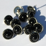 14mm Pearl Brads - Black