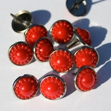 14mm Pearl Brads - Red