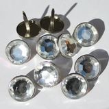 15mm Jewel Brads - Clear (out of stock)