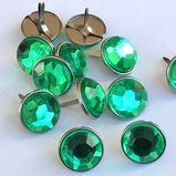 16mm Jewel Brads - Green
