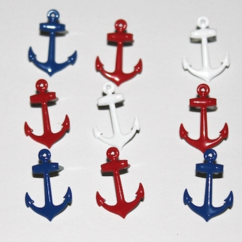 Anchor Brads - Red/White/Blue