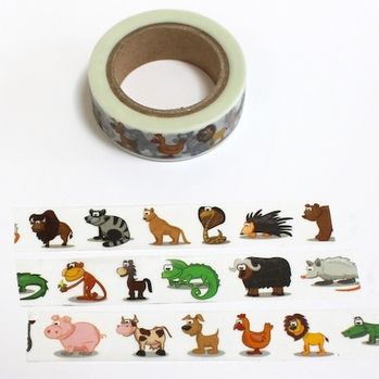 Animal Washi Tape - Lion & Friends