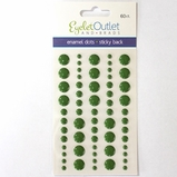 *Enamel Dots - Multi Size Green