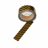 Foil Washi Tape - Black Gold Stripe