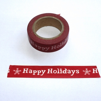 Happy Holidays Washi Tape