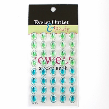 *Oval Jewels - Blue/Green