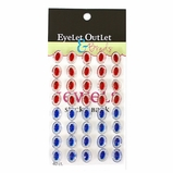 *Oval Jewels - Red/Blue