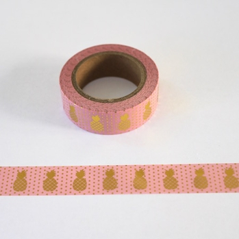 Pinapple Washi Tape - Pink