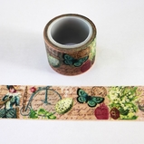 Retro Butterfly Washi Tape - Wide