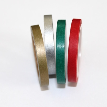 Skinny Washi Tape - Holiday Colors