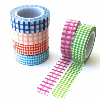 Washi Tape - Checks, Diamonds