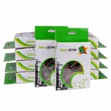 """(10-Pack) 3"""" x 3"""" (80mm) Logisys LT400GN 4-Green LED Case Fan w/3-Pin & 4-Pin Connectors (Clear)"""
