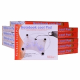 """(11-Pack) Notebook Cooler Pad w/3 60mm Blue LED Fans (Clear) - Supports up to 17"""""""