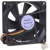 "3"" x 3"" (80mm) Case Fan w/3-Pin Connector (Black)"