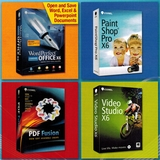 Corel Bundle - Includes WordPerfect Office X6 Standard, PaintShop Pro X6, VideoStudio X6 and PDF Fusion