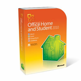 Microsoft Office 2010 Home and Student for 3 PCs Retail Box