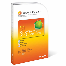 Microsoft Office 2010 Home and Student Product Key Card