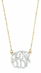 "1 5/8"" Diamond Monogram Necklace by Jane Basch"