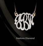 "3/4"" Freeform Diamond Monogram Necklace by Jane Basch"