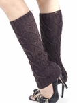 Cable Knit Leg Warmers, Boot Socks - Charcoal