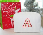 Christmas Monogrammed Cosmetic Bag