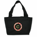 Christmas Monogrammed Insulated Lunch Bag