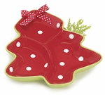 Christmas Tree Divided Serving Tray or Relish Dish - Perfect Hostes Gift!