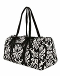 Damask Print Monogrammed Duffle Bag - Personalized Free!!