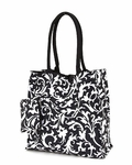 Damask Print Monogrammed Tote Bag - Special Price!