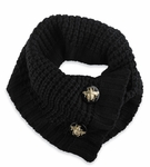 Designer Knit Scarf - Black