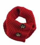 Designer Knit Scarf Red