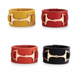 Equestrian Bit Designer Bracelet - Vegan Leather