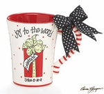 Joy To The World Ceramic Mug - Hand Painted