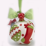 Large Ceramic Christmas Ornament - Stocking Design