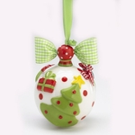 Large Ceramic Christmas Ornament - Tree Design