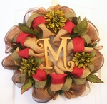 Monogram Fall Wreath, Personalized Fall Wreath - Now on SALE!