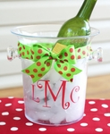 Monogrammed Acrylic Ice Bucket - Personalized Free!