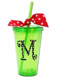 Monogrammed Acrylic Tumblers with Straw - CYBER MONDAY DEAL