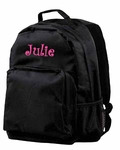 Monogrammed Backpack - Black