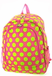Monogrammed Backpack- Preppy Polka Dots