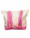 Monogrammed Beach Bag- Pink - MONTHLY SPECIAL