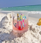 Monogrammed Beach Glass Lilly Pulitzer Insipired Vinyl