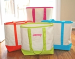Monogrammed Beach Tote Bags - Tropical Colors ON SALE!